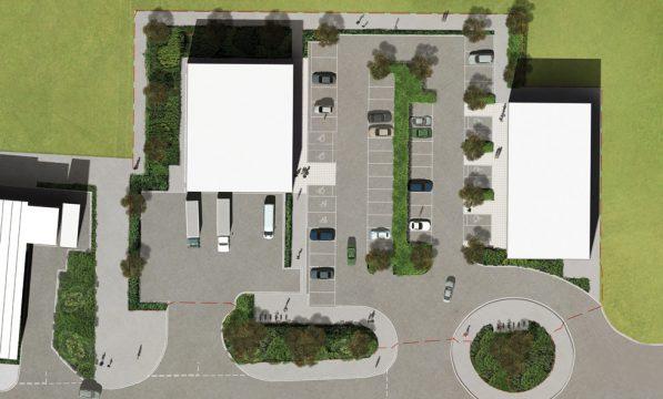 Davis Landscape Architecture Unit 21 27 Witham Essex Commercial Landscape Architect Design Planning Rendered Plan