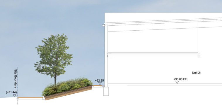 Davis Landscape Architecture Unit 21 27 Witham Essex Commercial Landscape Architect Design Planning Rendered Section A