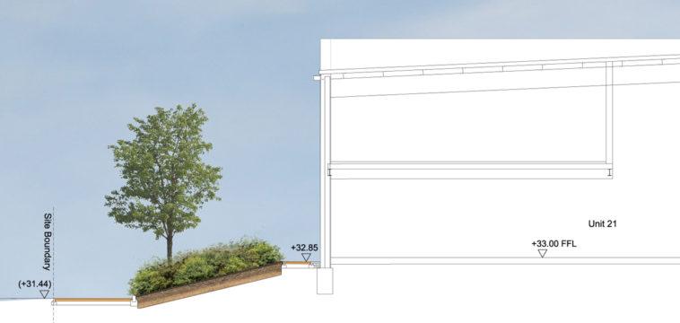Davis Landscape Architecture Unit 21 27 Witham Essex Commercial Landscape Architect Design Planning Rendered Section A