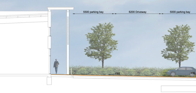 Davis Landscape Architecture Unit 21 27 Witham Essex Commercial Landscape Architect Design Planning Rendered Section B