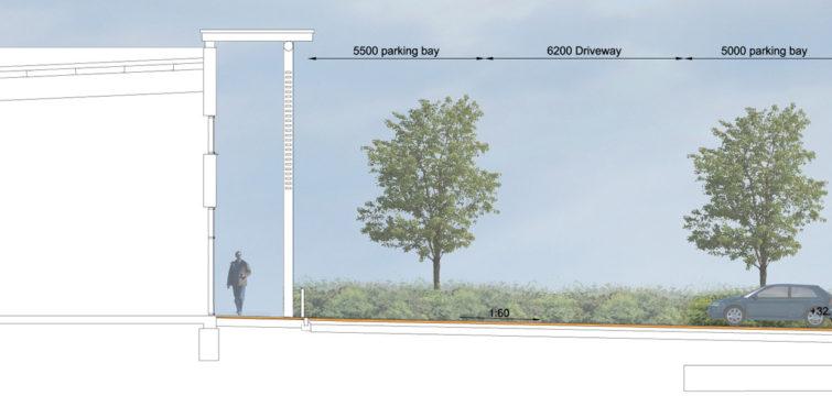 Davis Landscape Architecture Unit 21 27 Witham Essex Commercial Landscape Architect Design Planning Rendered Section B