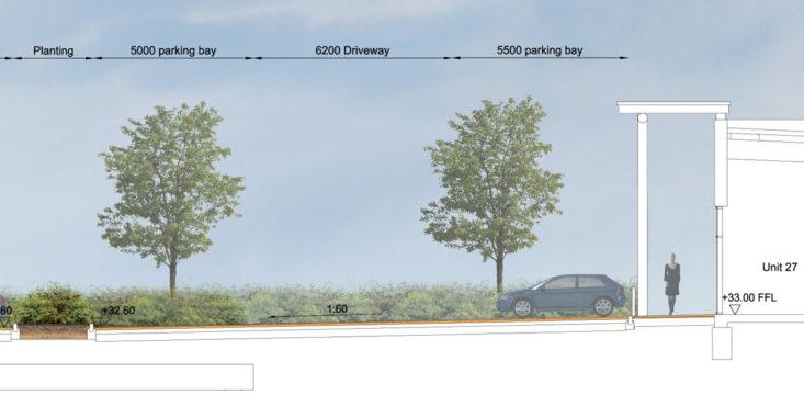 Davis Landscape Architecture Unit 21 27 Witham Essex Commercial Landscape Architect Design Planning Rendered Section C