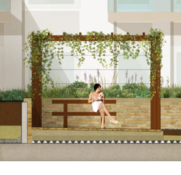 Davis Landscape Architecture Young Street Kensington and Chelsea London Residential Landscape Architect Design Podium Deck Construction Render Section