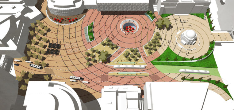 Davis Landscape Architecture Centenary Square Birmingham Competition Masterplan Landscape Architect Public Realm Visualisation 1