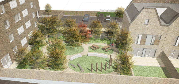 Davis Landscape Architecture Gillan Court Lewisham Render Visualisation Residential Landscape Architect Design Play