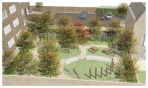 Davis Landscape Architecture Gillan Court Lewisham Render Visualisation Residential Landscape Architect Design Play Icon