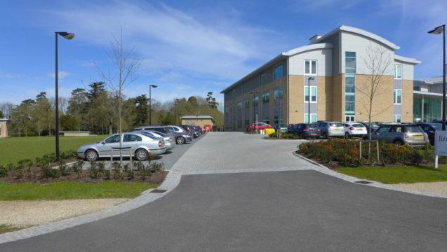 Davis Landscape Architecture Chesterford Research Park Robinson Building Essex Office Laboratory Landscape Architect Plot Entrance