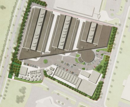 Davis Landscape Architecture Equinix Data Centre Blanchardstown Dublin Ireland Commercial Masterplan Render Landscape Design Detailed Planning Tender
