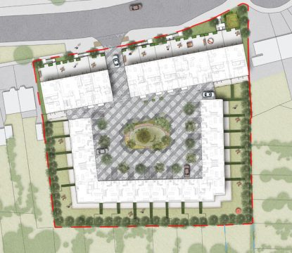 Davis Landscape Architecture Leatherhead Road Chessington Kingston London Render Plan Residential Landscape Architect Design