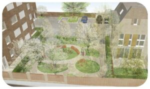 Davis Landscape Architecture Gillan Court Lewisham Render Visualisation Residential Landscape Architect Design Play News