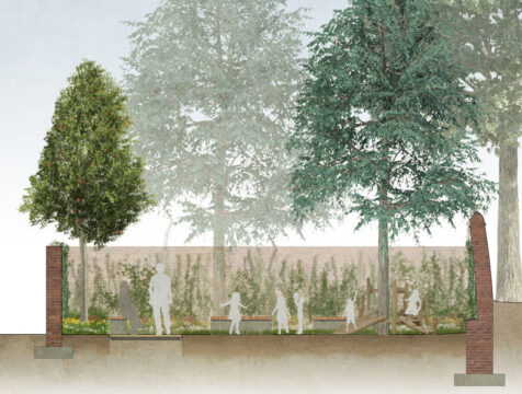 Davis Landscape Architecture Leyton Green Road Walthamstow Render Section Residential Landscape Architect Design Play