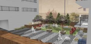 Davis Landscape Architects Bow Road London Home Zone Residential Landscape Architect Design Courtyard Rendered Visualisation