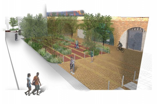 Davis Landscape Architects Crown Street London Home Zone Mixed Use Public Realm Residential Landscape Design Architect Render Planning