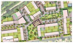 Davis Landscape Architecture 1 Oxford Greyhound Stadium Home Zone Residential Landscape Rendered Site Wide Masterplan Icon