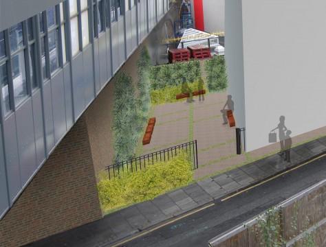 Davis Landscape Architects Salter Street London Mixed Use Landscape Architect Rendered Visualisation