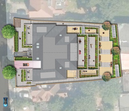 Davis Landscape Architects The Grove London Residential Landscape Architect Design Roof Garden Rendered Plan