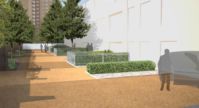 Davis Landscape Architects Tudor Court London Home Zone Residential Landscape Architect Design Visualisation Render