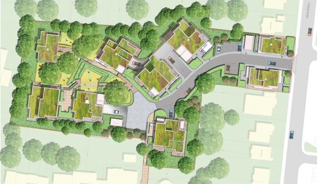 Davis Landscape Architects Churchwood Gardens Tyson Road London Residential Landscape Architect Design Rendered Masterplan