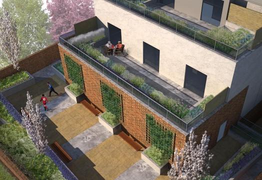 Davis Landscape Architects The Grove London Residential Landscape Architect Design Roof Garden Rendered Visualisation