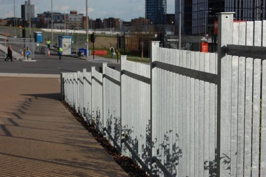 Davis Landscape Architects East Village Marketing Suite London Public Realm Landscape Architect Complete Railings