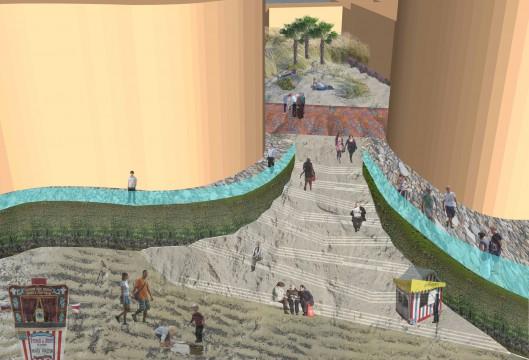 Davis Landscape Architects Marine Plaza Southend on Sea Mixed Use Landscape Architect Rendered Concept Sketch