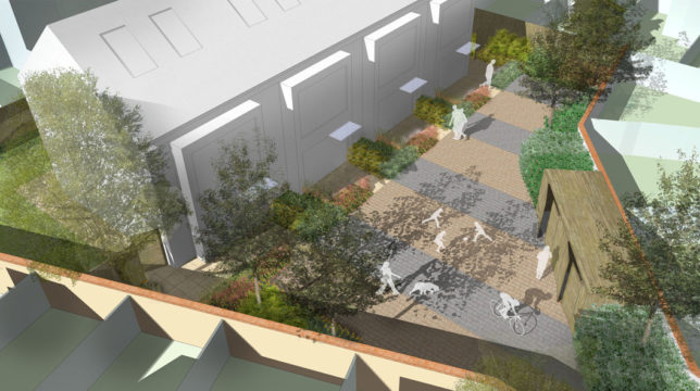 Davis Landscape Architecture Clyde Road London Residential Landscape Architect Rendered Visualisation