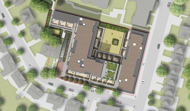 Davis Landscape Architecture Finchley Road Barnet London Residential Podium Deck Landscape Rendered Masterplan