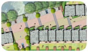 Davis Landscape Architecture Grange Road London Residential Home Zone Rendered Landscape Architect Master Plan