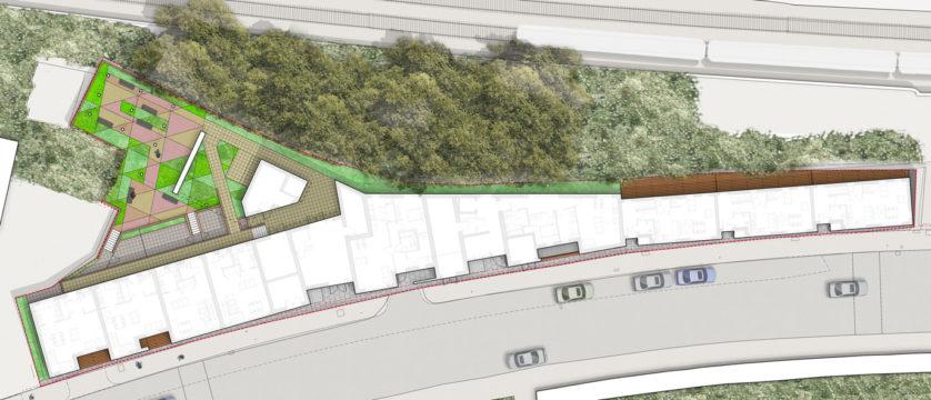 Davis Landscape Architecture Iverson Road London Residential Landscape Architect Rendered Plan