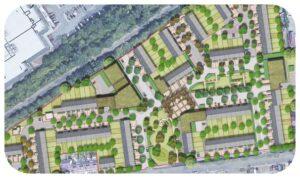 Davis Landscape Architecture Oxford Greyhound Stadium Residential Landscape Architect Rendered Masterplan Home Zone Icon
