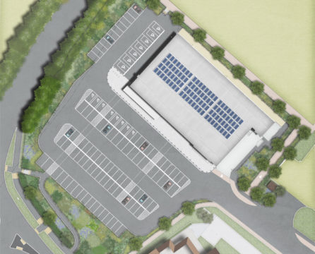 Davis Landscape Architecture Witham Commercial Landscape Architect Rendered Masterplan