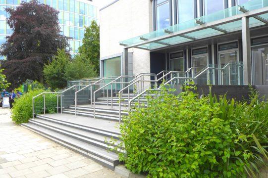 Davis Landscape Architecture 90 Hills Road Cambridge Commercial Landscape Architect Entrance Steps Planting