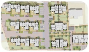 Davis Landscape Architecture Albyns Close Havering London Residential Landscape Architect Render Masterplan Planning Icon