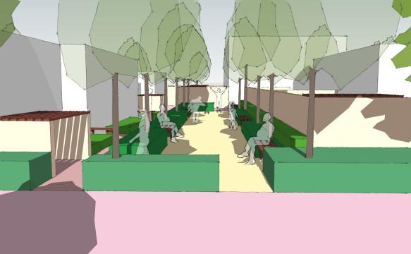 Davis Landscape Architecture Albyns Close London Residential Sketch Landscape Design Architect Visulaisation Park