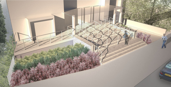 Davis Landscape Architecture Hills Road Cambridge Commercial Landscape Design Architect Rendered Visualization