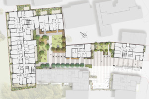 Davis Landscape Architecture Bow Road London Housing Residential Shared Space Play Landscape Architect Rendered Plan