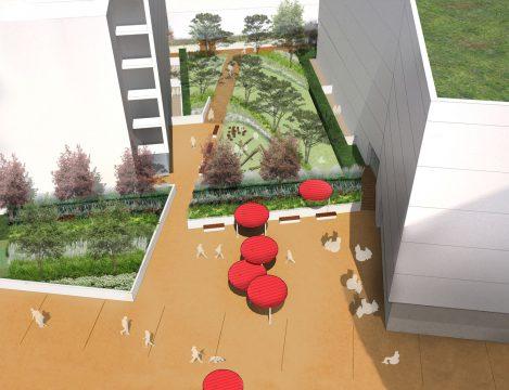 Davis Landscape Architecture Marine Plaza Southend on Sea Mixed Use Landscape Render Visualisation