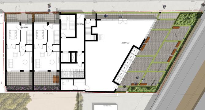 Davis Landscape Architecture Salter Street London Mixed Use Landscape Architect Render Plan