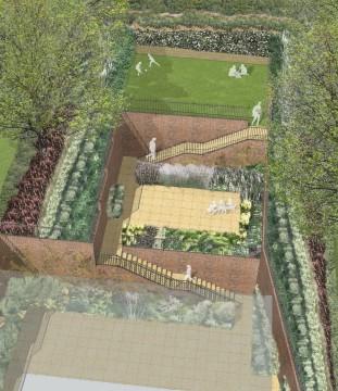 Davis Landscape Architecture Plough Lane London Residential Landscape Design Architect Rendered Visualisation