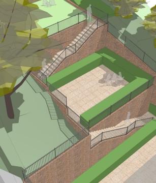 Davis Landscape Architecture Plough Lane London Residential Landscape Architect Design Sketch Visualisation 2