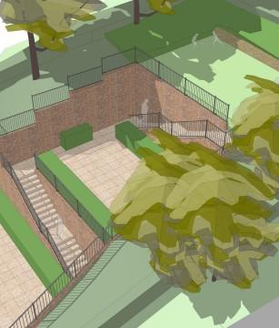 Davis Landscape Architecture Plough Lane London Residential Landscape Design Architect Sketch Visualisation 3