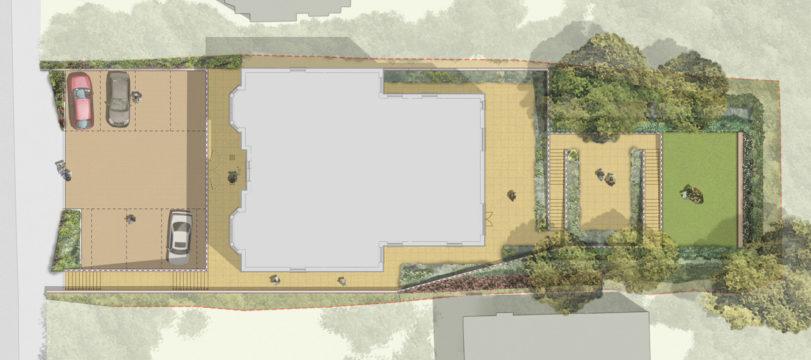 Davis Landscape Architecture Plough Lane London Residential Rendered Landscape Architect Plan