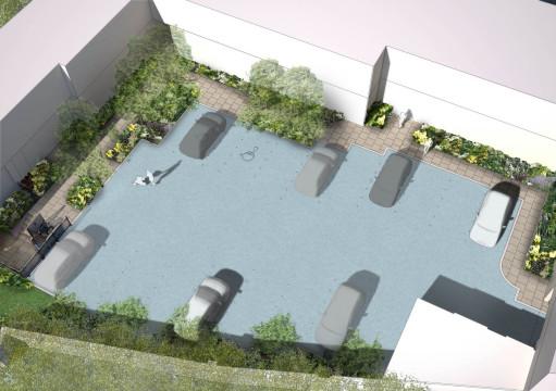 Davis Landscape Architecture Holcombe House London Residential Landscape Design Architect Rendered Visualisation