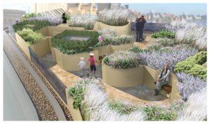 Davis Landscape Architecture 1 Wapping London Residential Roof Garden Landscape Rendered Visulisation Day Icon