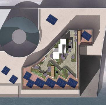 Davis Landscape Architecture Wapping Riverside London Residential Roof Garden Landscape Architect Render Plan