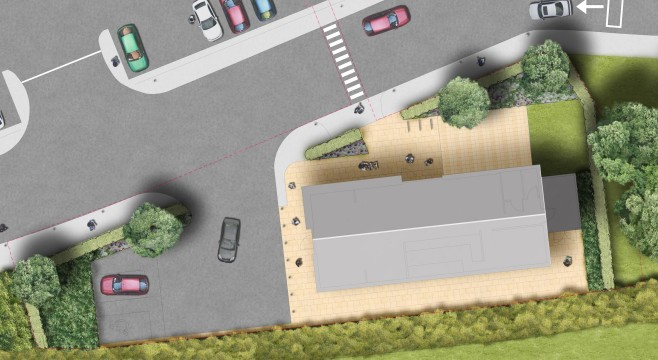 Davis Landscape Architecture Costa Coffee Huntingdon Commercial Landscape Architect Design Rendered Plan Planning