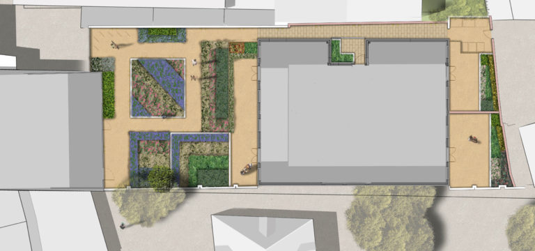 Davis Landscape Architecture Mile End Road London Residential Landscape Architect Render Plan Planning