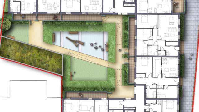 Davis Landscape Architecture Watts Grove London Residential Landscape Architect Rendered Plan Play Planning B