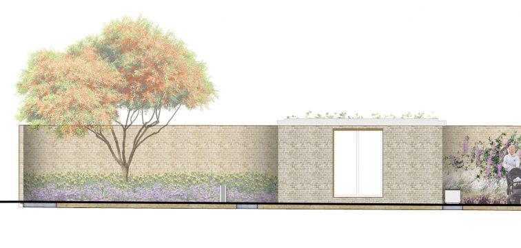 Davis Landscape Architecture Watts Grove London Residential Landscape Rendered Section Planning 1