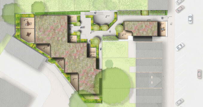 Davis Landscape Architecture Chadwell Street Residential Landscape Architect Design Rendered Podium Deck Plan Planning